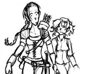 Elmiryn and Nyx - Cartoony
