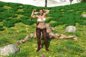 Elmiryn defeats a troll